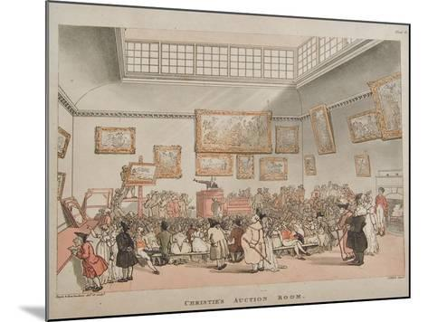 Christie's Auction Room, 1808- Rowlandson & Pugin-Mounted Giclee Print