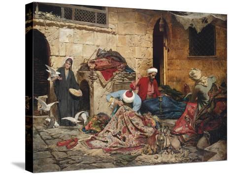 The Carpet Menders, 1883-Rudolf Der G. Swoboda-Stretched Canvas Print