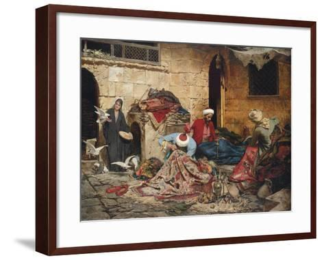 The Carpet Menders, 1883-Rudolf Der G. Swoboda-Framed Art Print