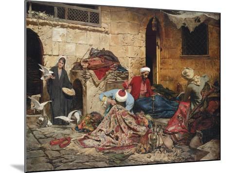 The Carpet Menders, 1883-Rudolf Der G. Swoboda-Mounted Giclee Print