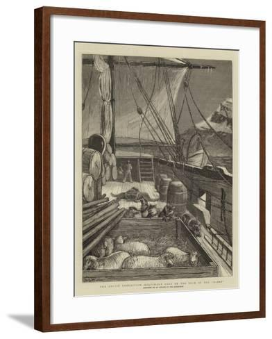 The Arctic Expedition, Esquimaux Dogs on the Deck of the Alert-Samuel Edmund Waller-Framed Art Print