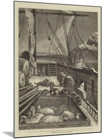The Arctic Expedition, Esquimaux Dogs on the Deck of the Alert-Samuel Edmund Waller-Mounted Giclee Print