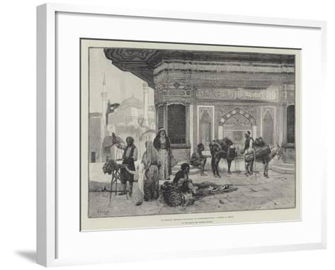 At Sultan Ahmed's Fountain in Constantinople-Rudolphe Ernst-Framed Art Print