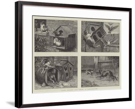 Look before You Leap, a Catastrophe-S^t^ Dadd-Framed Art Print