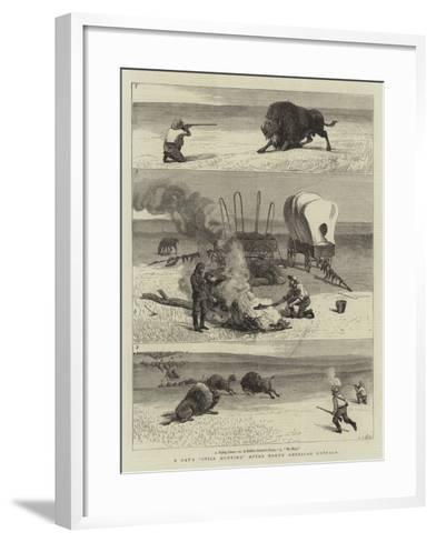 A Day's Still Hunting after North American Buffalo-Samuel Edmund Waller-Framed Art Print
