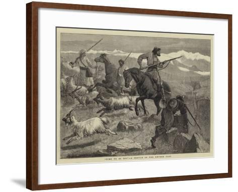 Time to Be Off, a Sketch in the Khyber Pass-Samuel Edmund Waller-Framed Art Print