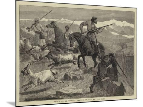 Time to Be Off, a Sketch in the Khyber Pass-Samuel Edmund Waller-Mounted Giclee Print