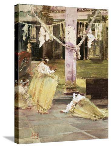 At Prayer, Temple Interior, C.1891-Robert Frederick Blum-Stretched Canvas Print