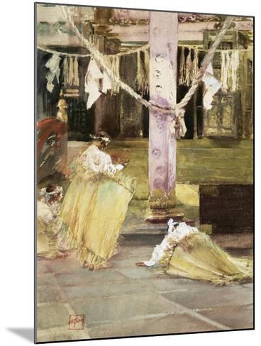 At Prayer, Temple Interior, C.1891-Robert Frederick Blum-Mounted Giclee Print