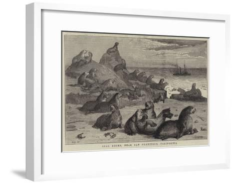 Seal Rocks, Near San Francisco, California-Samuel Edmund Waller-Framed Art Print