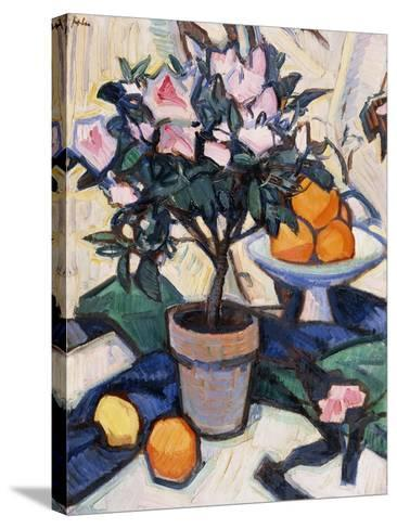 Pink Azalea and Oranges, C.1913-Samuel John Peploe-Stretched Canvas Print