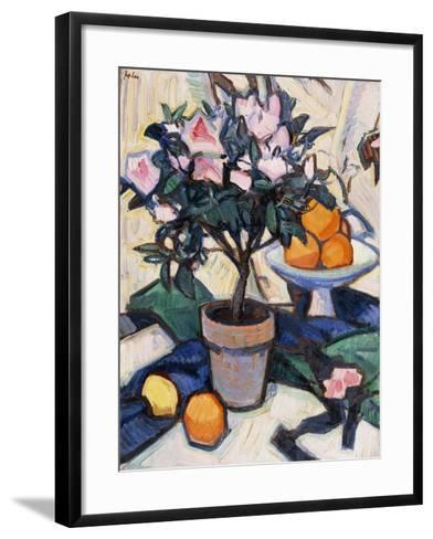 Pink Azalea and Oranges, C.1913-Samuel John Peploe-Framed Art Print