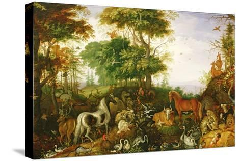 Orpheus Charming the Animals-Roelandt Jacobsz^ Savery-Stretched Canvas Print