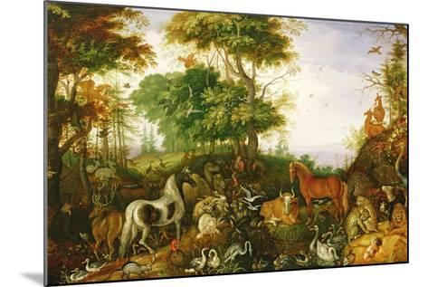 Orpheus Charming the Animals-Roelandt Jacobsz^ Savery-Mounted Giclee Print