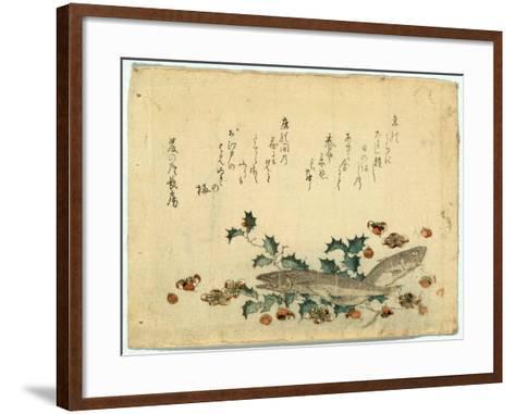 Hiiragi Ni Iwashi Ni Ume-Ryuryukyo Shinsai-Framed Art Print
