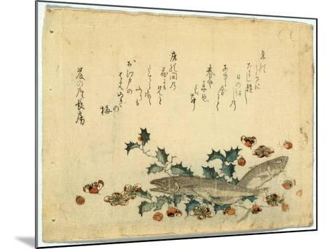 Hiiragi Ni Iwashi Ni Ume-Ryuryukyo Shinsai-Mounted Giclee Print