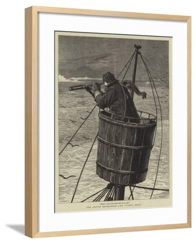The Arctic Expedition, the Crow's Nest-Samuel Edmund Waller-Framed Art Print