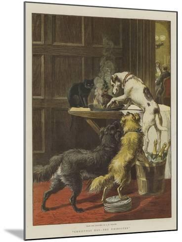 Christmas Day, the Uninvited-Samuel Edmund Waller-Mounted Giclee Print