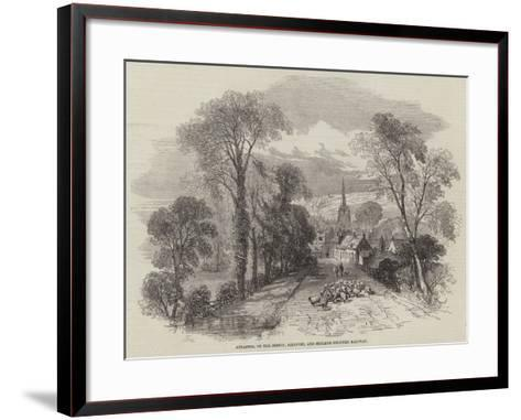 Ancaster, on the Boston, Sleaford, and Midland Counties Railway-Samuel Read-Framed Art Print