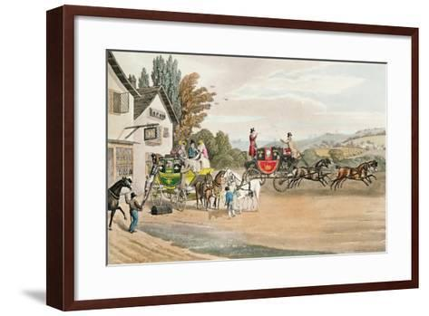 A London Mail and Stage Coach-Robert The Elder Havell-Framed Art Print
