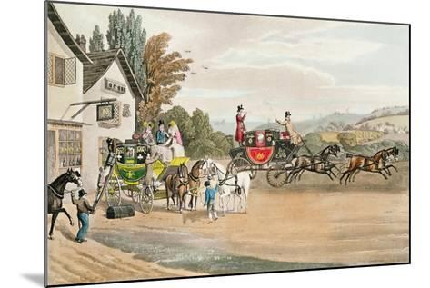 A London Mail and Stage Coach-Robert The Elder Havell-Mounted Giclee Print
