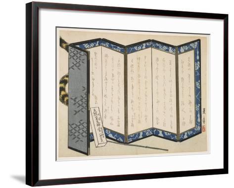 Screen and a Tiger, January 1866-Rogetsu Yoshimi-Framed Art Print