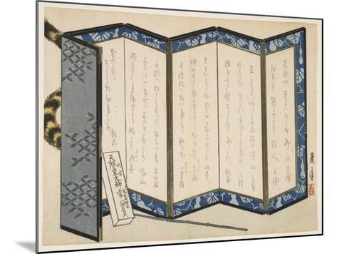 Screen and a Tiger, January 1866-Rogetsu Yoshimi-Mounted Giclee Print