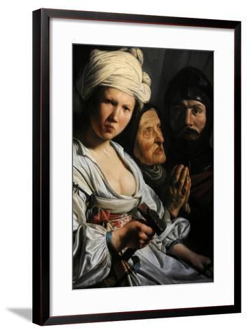 Jael, Deborah and Barak, 1635-Salomon de Bray-Framed Art Print