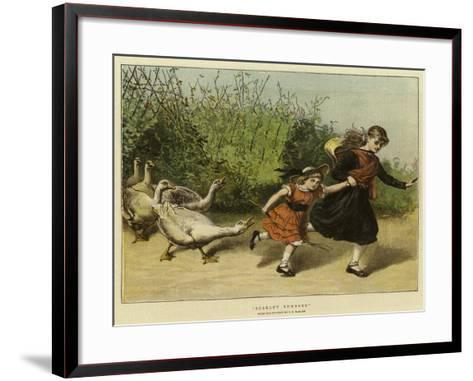 Scarlet Runners-Samuel Edmund Waller-Framed Art Print