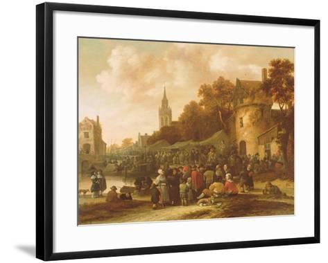 The Village Fair, 17th Century-Salomon Rombouts-Framed Art Print