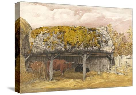 A Cow Lodge with a Mossy Roof, C.1829 (Pen and Ink with W/C and Gouache on Paper)-Samuel Palmer-Stretched Canvas Print