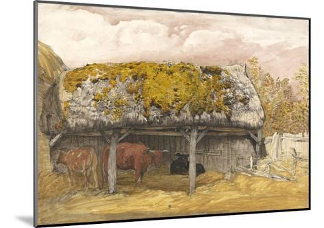 A Cow Lodge with a Mossy Roof, C.1829 (Pen and Ink with W/C and Gouache on Paper)-Samuel Palmer-Mounted Giclee Print