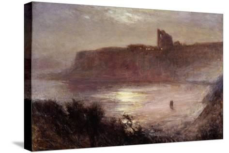 Moonlight - Tynemouth Priory, C.1922-Robert Jobling-Stretched Canvas Print