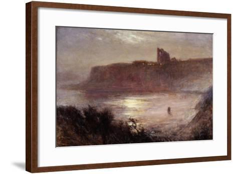 Moonlight - Tynemouth Priory, C.1922-Robert Jobling-Framed Art Print