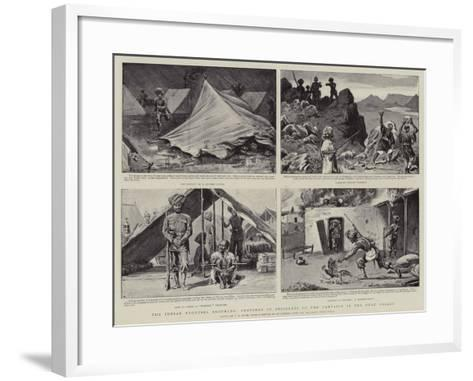 The Indian Frontier Troubles, Sketches of Incidents of the Campaign in the Swat Valley-S^t^ Dadd-Framed Art Print