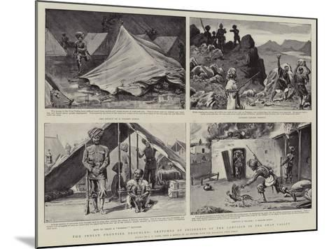 The Indian Frontier Troubles, Sketches of Incidents of the Campaign in the Swat Valley-S^t^ Dadd-Mounted Giclee Print