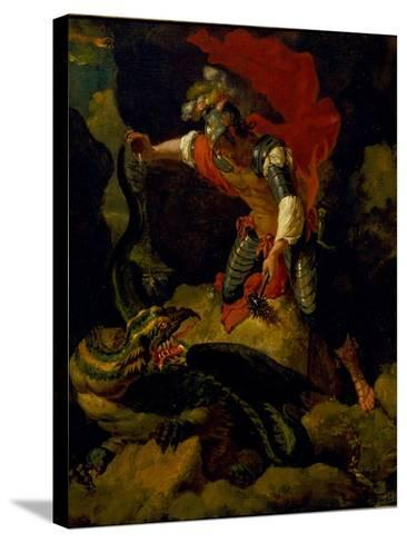 Jason Poisoning the Dragon-Salvator Rosa-Stretched Canvas Print