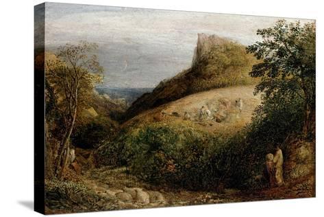 A Pastoral Scene, 19th Century-Samuel Palmer-Stretched Canvas Print