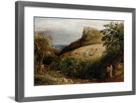 A Pastoral Scene, 19th Century-Samuel Palmer-Framed Art Print