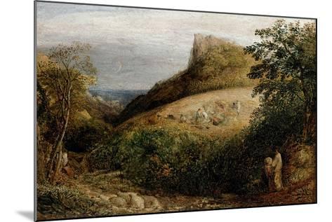 A Pastoral Scene, 19th Century-Samuel Palmer-Mounted Giclee Print