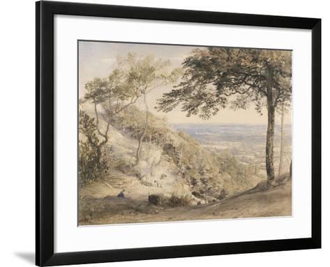 Wilmot's Hill, Kent (W/C, B/C and Chalk on Paper)-Samuel Palmer-Framed Art Print