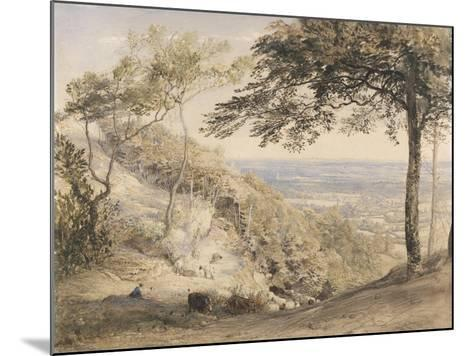Wilmot's Hill, Kent (W/C, B/C and Chalk on Paper)-Samuel Palmer-Mounted Giclee Print