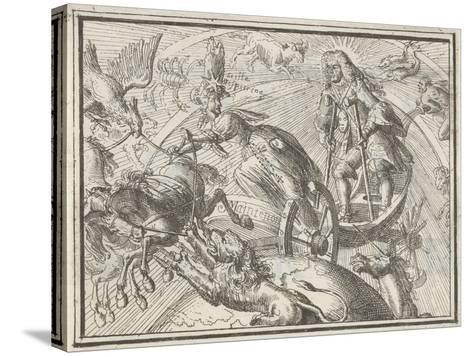 Caricature Depicting Louis XIV as Apollo in His Chariot, 1701-Romeyn De Hooghe-Stretched Canvas Print
