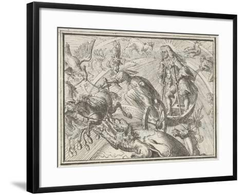 Caricature Depicting Louis XIV as Apollo in His Chariot, 1701-Romeyn De Hooghe-Framed Art Print