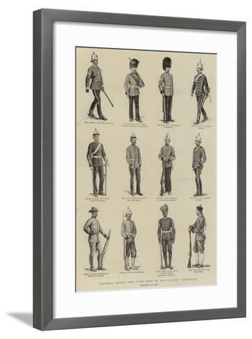 Colonial Troops Who Took Part in the Jubilee Procession-S^t^ Dadd-Framed Art Print