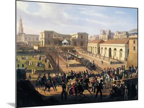 Inauguration of the Naples-Portici Railway, October 3, 1839-Salvatore Fergola-Mounted Giclee Print