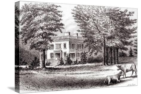 Hamilton Grange, from 'Old New York, Volume I', 1802-Samuel Hollyer-Stretched Canvas Print