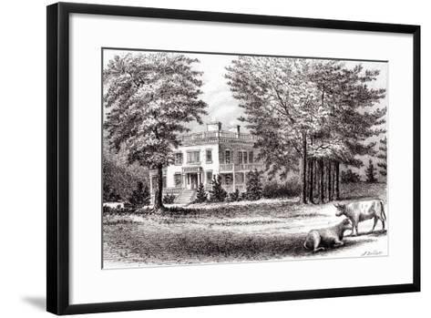 Hamilton Grange, from 'Old New York, Volume I', 1802-Samuel Hollyer-Framed Art Print