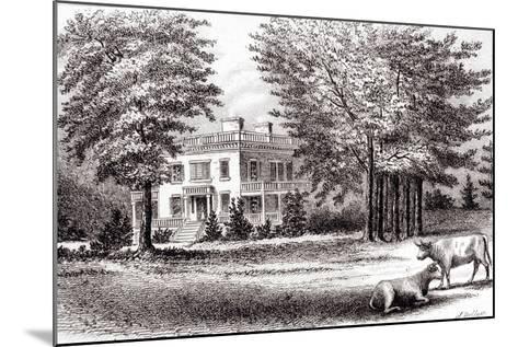 Hamilton Grange, from 'Old New York, Volume I', 1802-Samuel Hollyer-Mounted Giclee Print