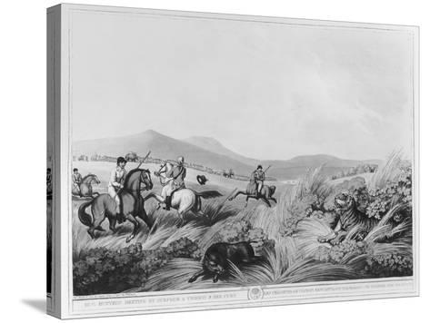 Hog Hunters Meeting-Samuel Howett-Stretched Canvas Print
